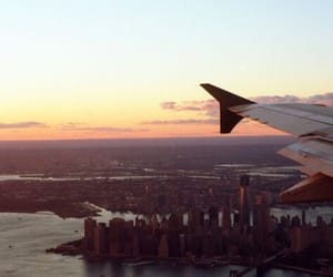plane, city, and fly image