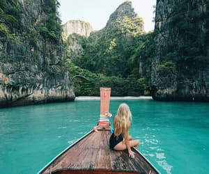 aesthetic, boat, and water image