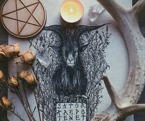 witch, magic, and pentagram image