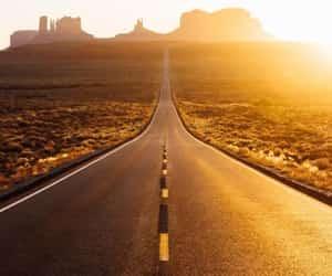 beautiful, desert, and road image