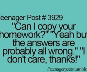 homework, teenager, and funny image