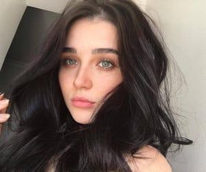 girl, eyebrows, and fashion image