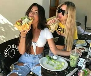 food, friends, and best friends image
