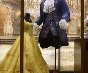beauty and the beast, disney, and dress image
