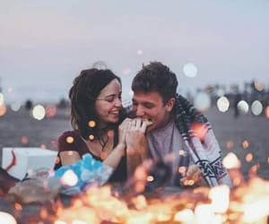 beach, date, and lights image