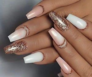 nails, glitter, and white image