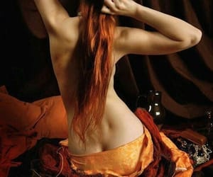 red, beauty, and hair image