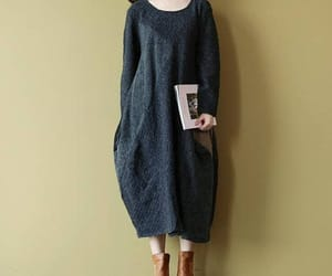 etsy, cotton dress, and round collar image