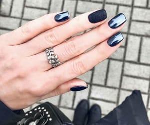 blue, nails, and nail enamel image