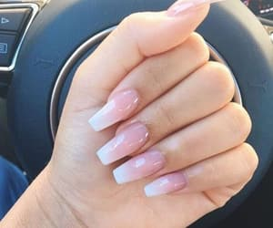 fade, nails, and white image