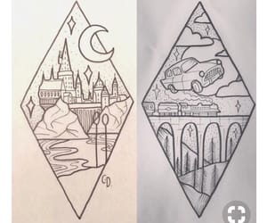 dibujo, drawing, and harry potter image