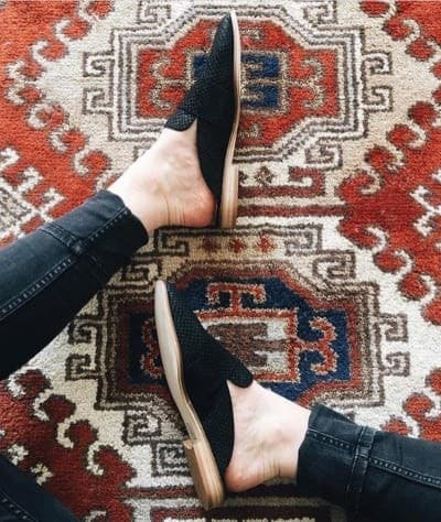 black, shoes, and mules image