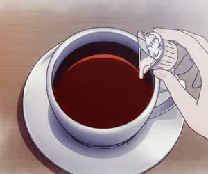 anime, coffee, and drink image