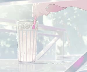 gif, anime, and drink image