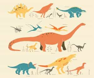 art, dinosaur, and dinosaurs image