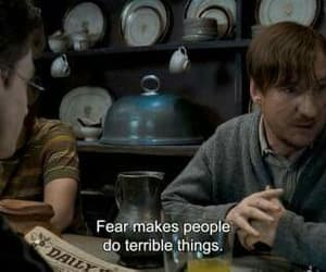 harry potter, quotes, and fear image