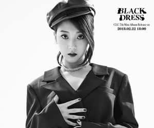 black dress, kpop, and clc image