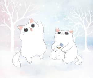 animal, winter, and bodeulcat image