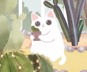 animal, cactus, and kittie image