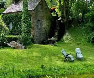green, house, and old house image