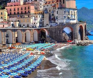 beach, italia, and photography image