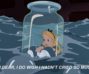 alice in wonderland, sad, and tears image