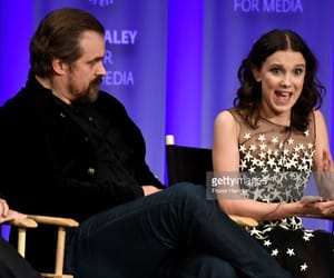 stranger things, david harbour, and millie bobby brown image