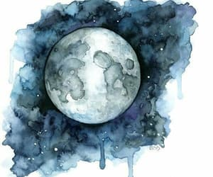 alternative, moon, and watercolor image