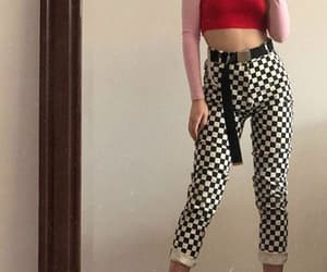 babe, checkered, and colour image