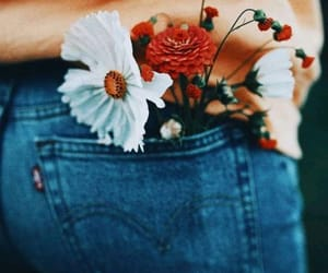 flowers, photography, and jeans image