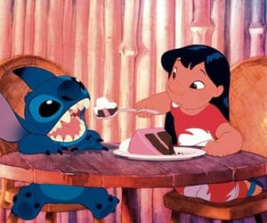 cake, stitch, and disney image