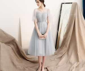 girl, tulle, and grey dress image