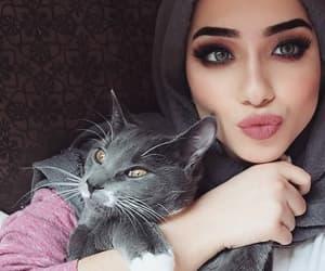 beauty, hijab, and fashion image