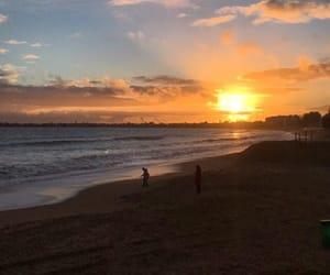 beach, sunset, and calm image
