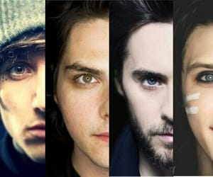 jared leto, andy biersack, and gerard way image