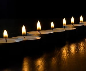 candles, flicker, and light image