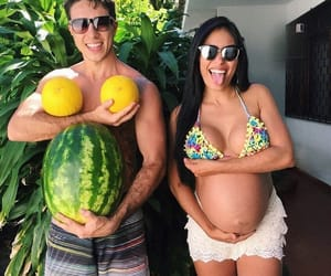 pregnant, couples, and love image