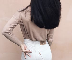 ass, booty, and whitejeans image