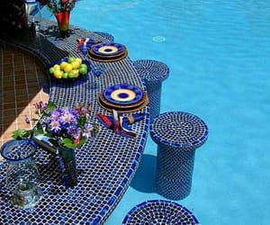 swimming pool, summer, and beautiful image