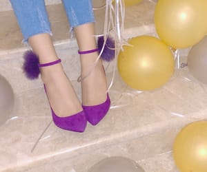 balloons, fashion, and heels image