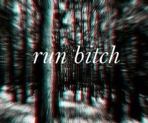 bitch, dark memories, and trees image
