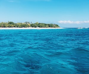 beach, blue, and Island image
