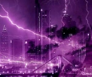 purple, city, and color image