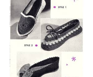 crochet, house shoes, and crocheted image