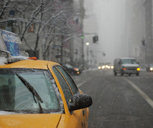 snow, taxi, and winter image