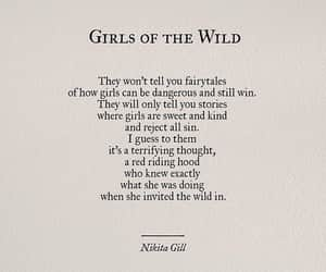 nikita gill, girl, and quotes image