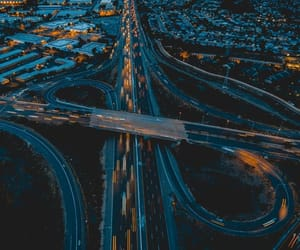 aesthetic, city lights, and road image