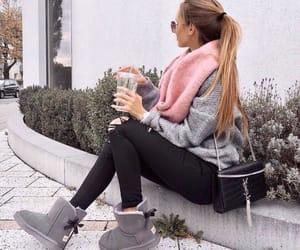 bag, blonde hair, and black bag image
