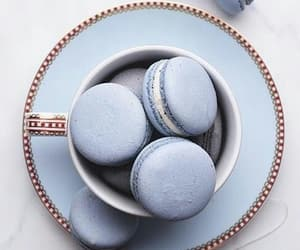 macarons, blue, and tea image