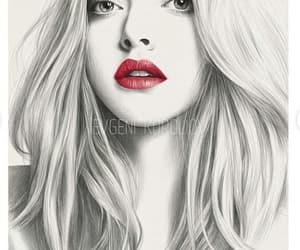 amanda seyfried, blonde, and lips image